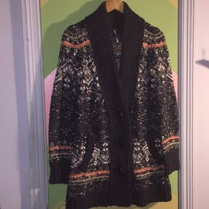Free People XS button down heavy sweater
